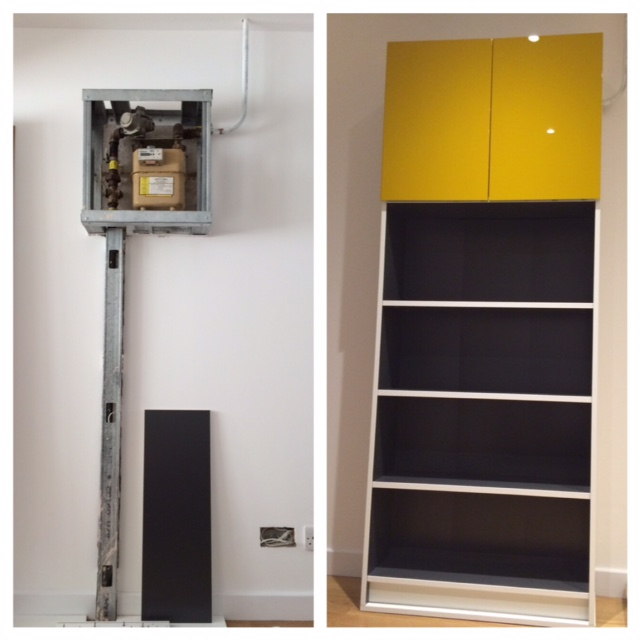 IKEA Hack for gas meter using Billy bookcase