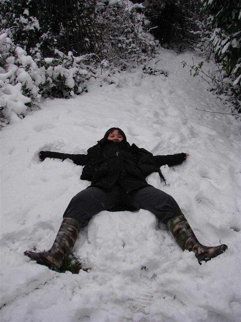 Winter - Snow angel Feb 2009