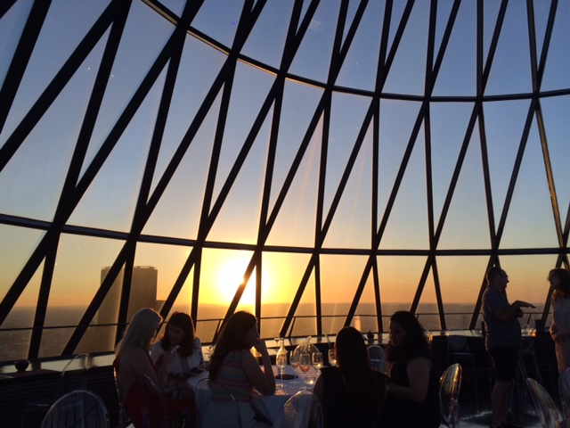 The Gherkin - Enjoying the sunset