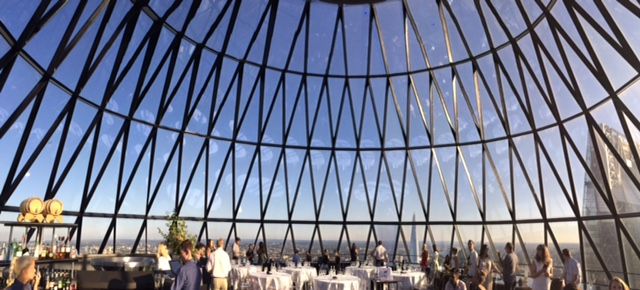Champagne tasting at The Gherkin - panorama