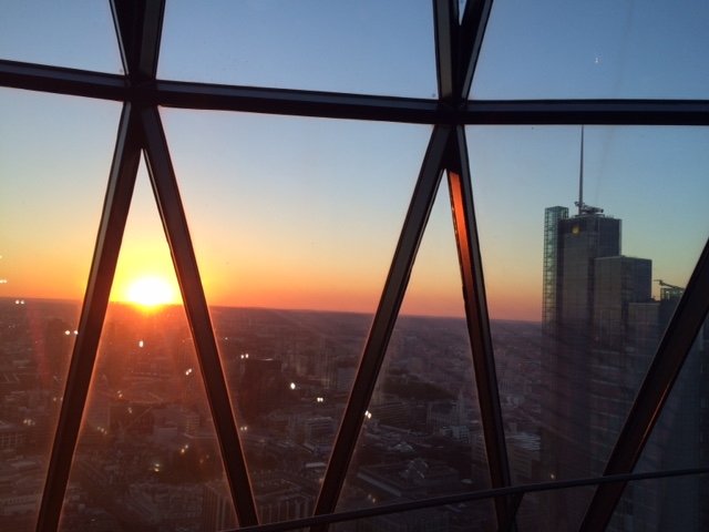 The Gherkin sunset 2
