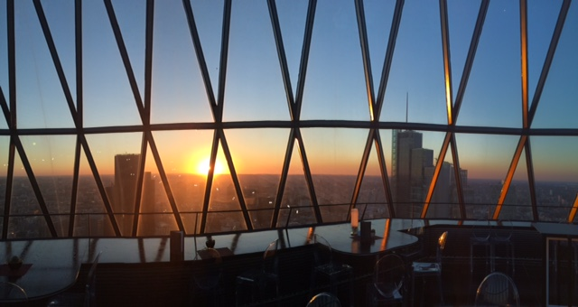 The Gherkin sunset3